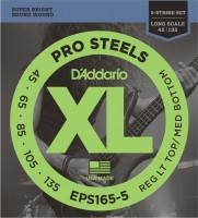 Струны DAddario XL ProSteels 5-String Bass 45-135