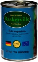 Корм для собак Baskerville Dog Canned with Lamb/Cock 0.8 kg